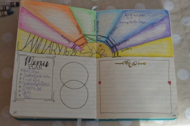 rainbow weekly lay out